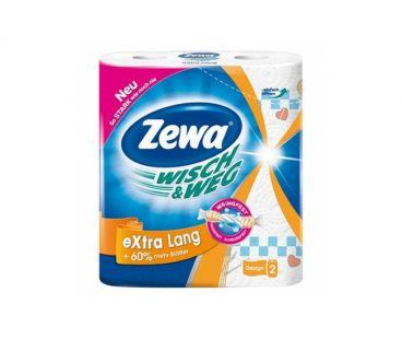 Бумажная продукция Zewa Полотенце бумажные Wisch&Weg Original Extra Lang 2 слоя