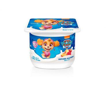 Детская молочная продукция Данколекция Йогурт Персик-Малина 2% 115г