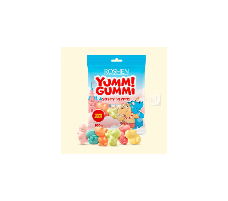Roshen Желейные конфеты Softy Hippos 100г