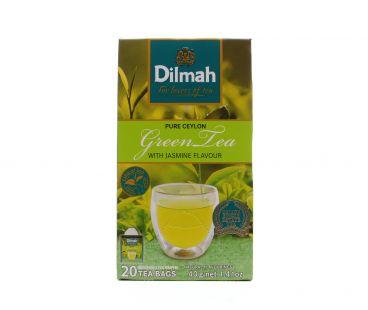 Dilmah Чай зеленый с ароматом жасмина 20*2г