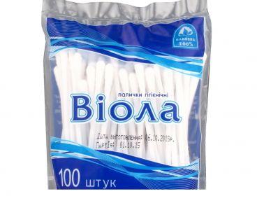 Товары для личной гигиены ВИОЛА ватные палочки 100шт пакет