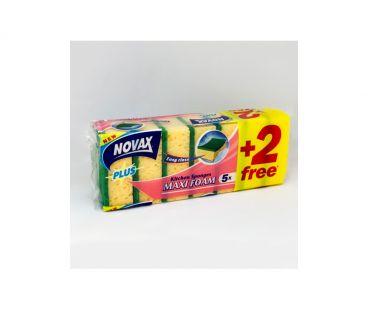novax Губки кухонные пористые 5+2 шт