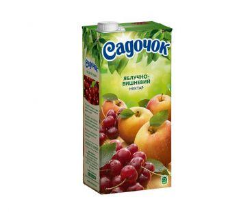 Сок Садочок яблоко вишня т/п 950г