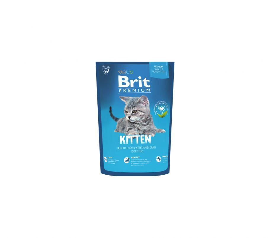 Brit Корм д/котят Премиум Киттен с курицей сухой 300г