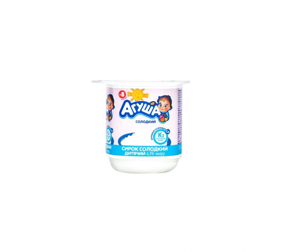 Творог Агуша сладкий 4,1% 100г ванна