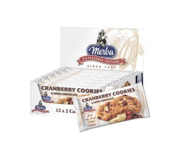 Merba Печенье Merba с клюквой и кусочками белого шоколада 44г