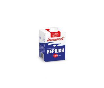Молоко Яготинское сливки 15% 500г ТП